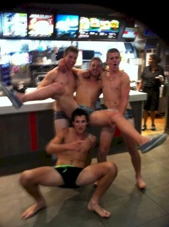 gays showing cock at burger king